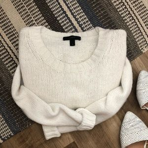 J. Crew • Cream knit crew neck Sweater
